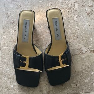 NW Black and Gold buckle Bellini Heels size 8M